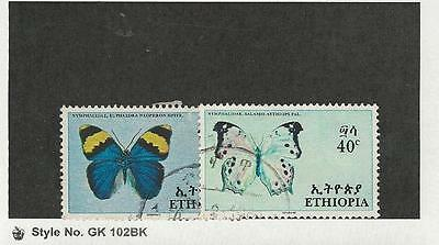 Ethiopia, Postage Stamp, #479-480 Used, 1967 Butterflies