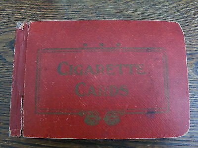 Vintage Red Cigarette Card Album With 44 Pages Many Unused Has Corner Fixing