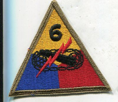 Original Wwii 6Th Armored Division Patch