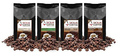 1kg MILD SAMPLER Coffee Beans - 4 x 250g Smooth, Freshly Roasted, FREE POSTAGE