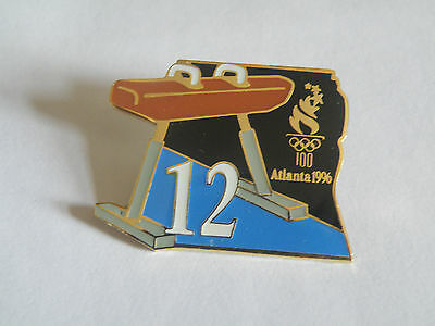 Atlanta Olympic Games 1996 Hard to Find Day 12 Gymnastic pin from Map Puzzle Set