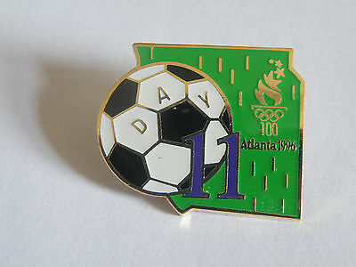 Atlanta Olympic Games 1996 Hard to Find Day 11 Football pin from Map Puzzle Set