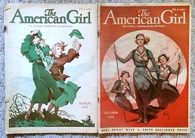 The American Girl Scouts Magazines -  Vintage October March 1935 For all Girls
