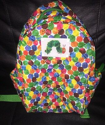 Quilted Koala Eric Carle Hungry Caterpillar Multi Color Dot Childs Backpack NWOT
