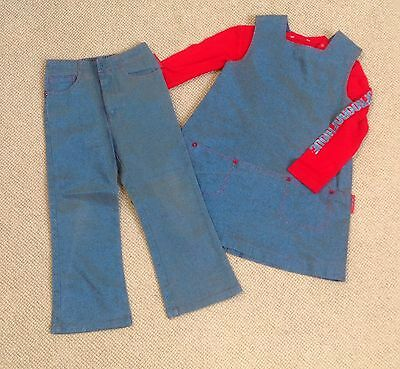 Miniman Trousers Tunic & Top 2-3y, IMmaculate! Sparkly Party, French Designer