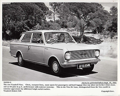 The New Vauxhall Viva, Period Press Photograph.