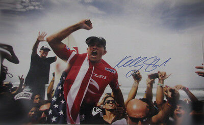 """KELLY SLATER Hand Signed HUGE  20""""x30"""" Colour Photo 7"""