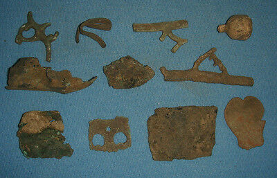 LOT OF 11 ANCIENT ROMANO CELTIC BRONZE ARTIFACTS 1 - 2nd CENTURY BC Ref.722