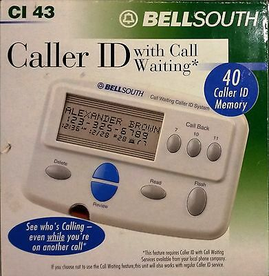 BELLSOUTH Caller ID Device with Call Waiting CI 43