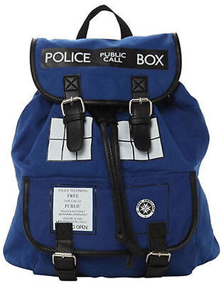 New Doctor Who Tardis Buckle Slouch Bag Purse Dr Who Backpack #9200