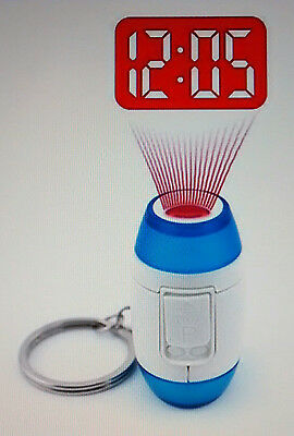 Quality Mini LED Projector Clock Keyrings,Blue or Red,UK Stock @ £4.75p.