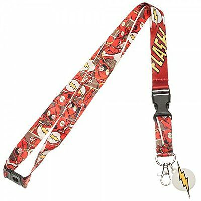 The Flash Comic Strip Red Neck Lanyard Necklace Keychain ID Holder Charm Sticker