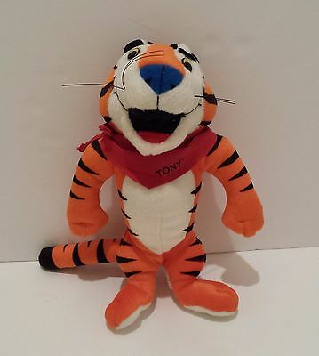 1991 Kellogg's Cereal Frosted FlakesTony The Tiger Stuffed Plush 10""