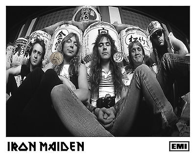 IRON MAIDEN PRESS PUBLICITY PROMO GLOSSY 8x10 PHOTO PICTURE 80's RP HEAVY METAL