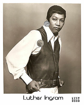 LUTHER INGRAM PRESS PUBLICITY PROMO GLOSSY 8x10 PHOTO PICTURE REPRINT SOUL R&B