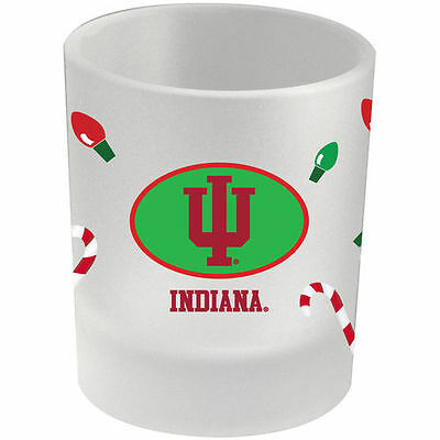 Indiana Hoosiers 8.5oz. Holiday Frosted Milk Glass - NCAA