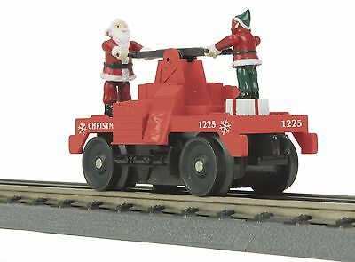 MTH 30-2573, O Gauge, Auto-Reversing, Operating Hand Car - Christmas No. 1225