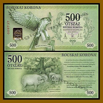 Hungary 500 Bocskai Korona, 2012 (local Money) Falcon Unc
