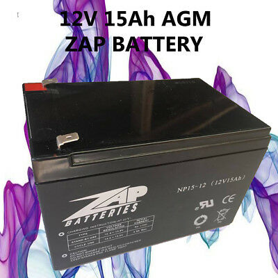 3x 12V 15AH Sealed AGM Battery for UPS,Scooter,Ebike,Jumpstart, 12Ah,14Ah *