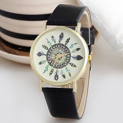 Unisex Men Womens Casual Watch Vintage Leather Band Analog Quartz Wrist Watches