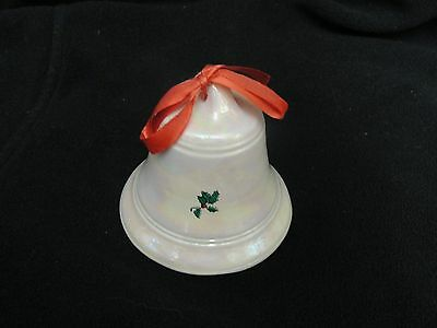 Christmas Holly Berry Bell Mother of Pearl
