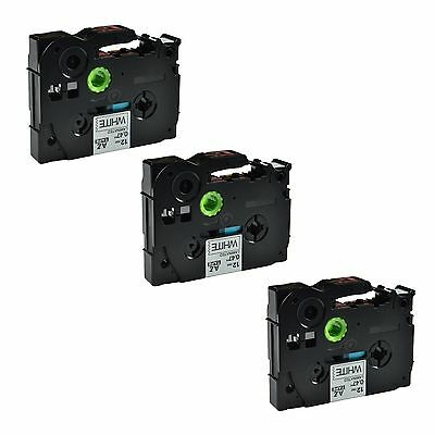 AU Stock 3PK TZ231 TZe-231 Black on White Label Tape For Brother P-Touch PT-1010