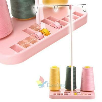 Sewing Machine Adjustable Embroidery 3 Thread Spools Bobbin Holder Rack Stand #A