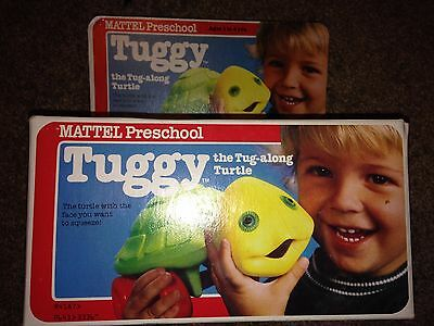 Mattel Tuggy the Tug Along Turtle Vintage Preschool Toy in Box Excellent shape