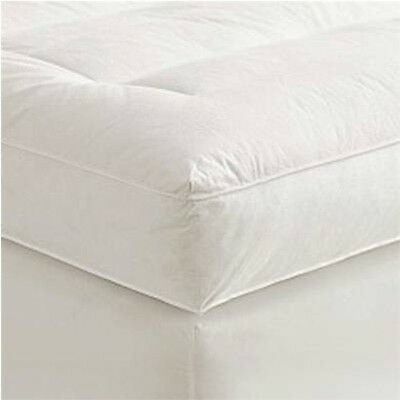 "4"" Queen Goose Down Mattress Topper Featherbed / Feather Bed Baffled"