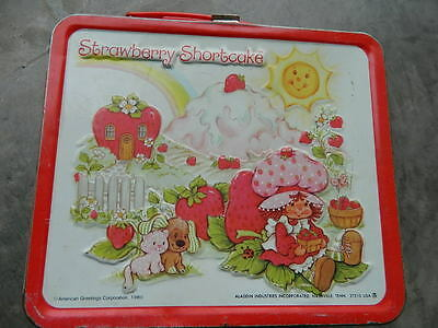 Strawberry Shortcake Vintage 1980 Lunchbox - Preowned