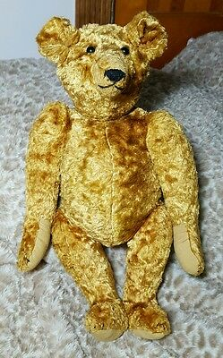 """AAFA Large Vintage to Antique Large 17"""" Mohair Teddy Bear Christmas Gift!"""