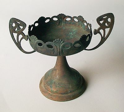 Vintage Copper? Art Deco Style Candy Dish Showing Wear & Patina Still Cool!