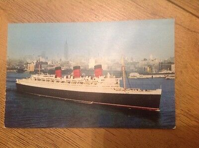 POSTCARD SHIPPING CUNARD LINE R.M.S. QUEEN MARY postally  unused