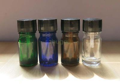 Wholesale 4 Colors 5ml Empty Nail Polish Bottle Clear Glass Containers Storage