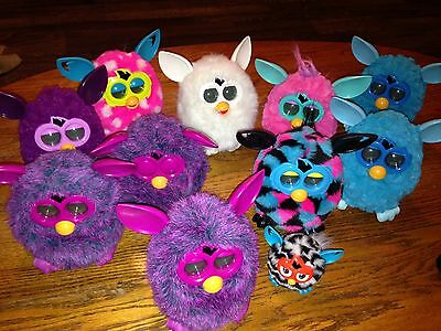 Furby Boom Next Generation Lot 11 Furbys - Mixed Colors Styles WORKING
