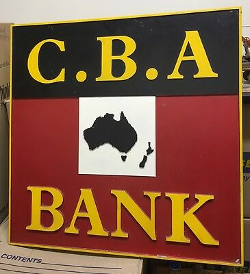 Old Metal Commercial Bank CBA Now Westpac Sign