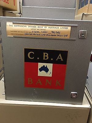 Old Metal Commercial Bank CBA Now Westpac Safe Tin No Keys