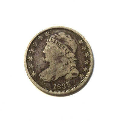1835 Capped Bust Silver Dime.  Nice Details.