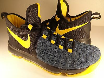 11c9cd1656c1 Nike Zoom KD 9 iD Black Blue Yellow SZ 9 (863695-992)