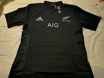 ALL BLACKS Genuine Professional New Zealand 2016 Adidas Home Jersey XXL 2XL BNWT