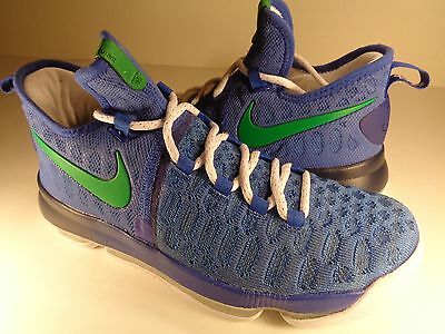 566d74f45168 Nike Zoom KD 9 iD Blue White Green Seattle Seahawks SZ 8 (863695-992