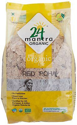 24 Mantra Organic Red Poha (Flattened Rice) 500gm