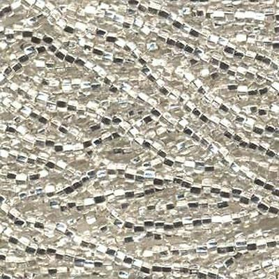 Czech Seed Beads 11/0 Crystal Silver Lined 31067 (6 strand hank) Glass Rocaille