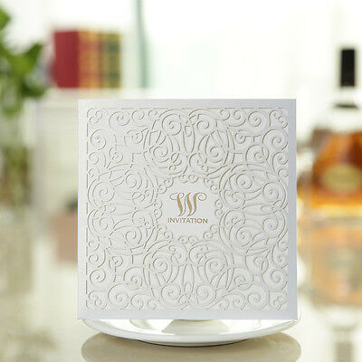 Free Personalized Printing White Floral Wedding Invitation Cards,Party invites