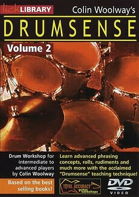 Colin Woolways Drumsense Lick Library Volume 2 Learn To Play Drums Drum Dvd