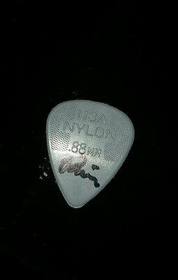 Weezer Rivers Cuomo signed guitar pick from The National (Richmond, VA) 04/29/14