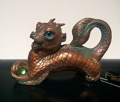 Windstone Young Oriental Dragon Copper Patina By Melody Pena