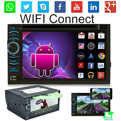 "Android 4.4 Quad Core WiFi 3G 6.5"" Car GPS DVD Player 2 Din Radio Stereo UK Hot"