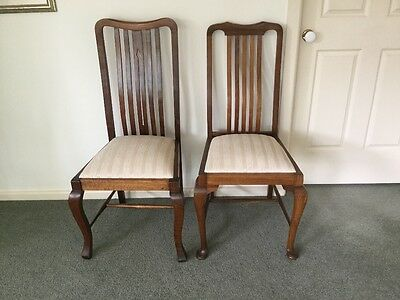 Two Blackwood Dining Chairs.  Early 1920's