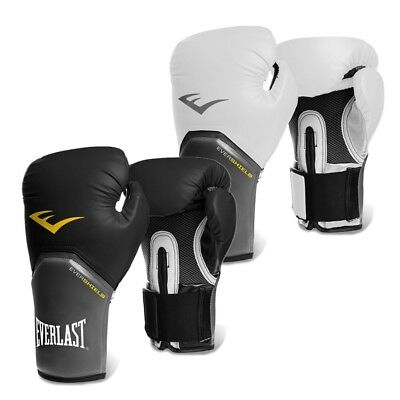Everlast Boxhandschuhe Pro Style Elite Boxing Gloves Boxen MMA black white